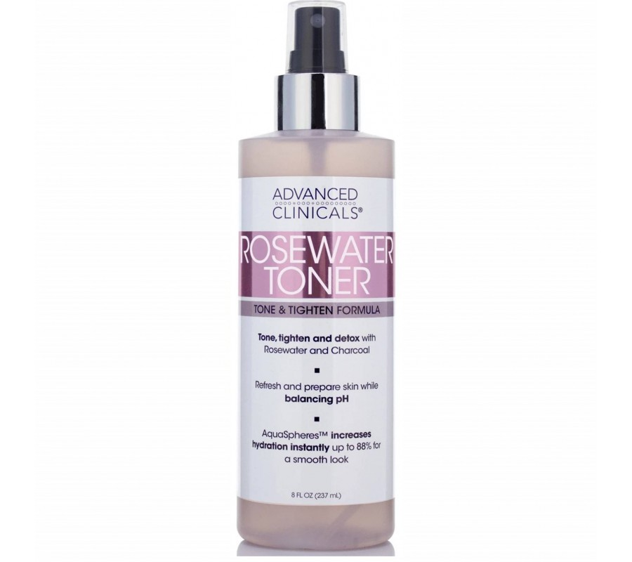 Advanced Clinicals Rosewater Toner 8oz